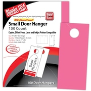 "Blanks/USA® 3.67"" x 8 1/2"" 65 lbs. Digital Timberline Cover Door Hanger, Plasma Pink, 50/Pack"