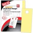 Blanks/USA® 3.67in. x 8 1/2in. 67 lbs. Digital Bristol Cover Door Hanger, Canary, 334/Pack
