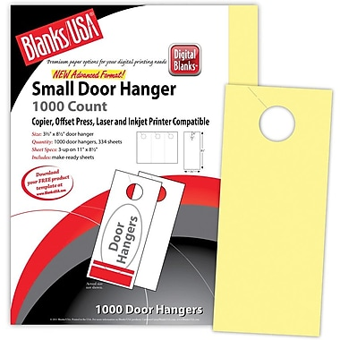 Blanks/USA® 3.67in. x 8 1/2in. 147 GSM Digital Bristol Cover Door Hangers, 334/Pack