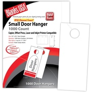 "Blanks/USA® 3.67"" x 8 1/2"" 67 lbs. Digital Bristol Cover Door Hanger, White, 334/Pack"