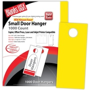 "Blanks/USA® 3.67"" x 8 1/2"" 65 lbs. Digital Timberline Cover Door Hanger, Sunfish Yellow, 334/Pack"