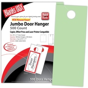 "Blanks/USA® 4 1/4"" x 11"" 67 lbs. Digital Bristol Cover Door Hanger, Green, 250/Pack"