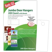 "Blanks/USA® 4 1/8"" x 11"" 80 lbs. Digital Gloss Cover Door Hanger, White, 50/Pack"