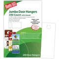Blanks/USA® 4 1/8in. x 11in. 80 lbs. Digital Matte Cover Door Hanger, White, 50/Pack