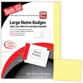 Blanks/USA® 4in. x 3in. Digital Name Badges, 50/Pack