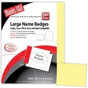 "Blanks/USA® 4"" x 3"" Digital Name Tag, Canary, 50/Pack"