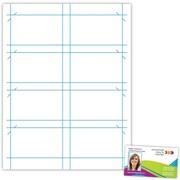 "Blanks/USA® 3 1/2"" x 2"" 10 Pt Premium Clean-Edge Cast Coat Business Card, White, 400/Pack"