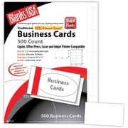 "Blanks/USA® 3 1/2"" x 2"" 80 lbs. Micro-Perforated Smooth Business Card, White, 500/Pack"