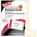 Blanks/USA® 3 1/2in. x 2in. 65 lbs. Micro-Perforated Timberline Business Card, Ivory, 500/Pack