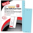 Blanks/USA® 2 3/4in. x 8 1/2in. Numbered 01-500 Digital Index Cover Raffle Ticket, Blue, 125/Pack