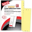 Blanks/USA® 2 3/4in. x 8 1/2in. Numbered 01-500 Digital Index Cover Raffle Ticket, Yellow, 125/Pack