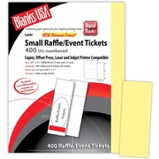 """Blanks/USA® 2 1/8"""" x 5 1/2"""" Digital Index Cover Event Ticket, Yellow, 50/Pack"""