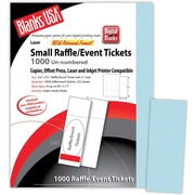 "Blanks/USA® 2 1/8"" x 5 1/2"" Digital Index Cover Event Tickets, 125/Pack"