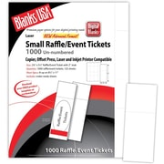 "Blanks/USA® 2 1/8"" x 5 1/2"" Digital Index Cover Event Ticket, White, 125/Pack"