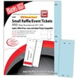 Blanks/USA® 2 1/8in. x 5 1/2in. Numbered 01-400 Digital Index Cover Raffle Ticket, Blue, 50/Pack