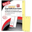 Blanks/USA® 2 1/8in. x 5 1/2in. Numbered 01-1000 Digital Index Cover Raffle Ticket, Yellow, 125/Pack