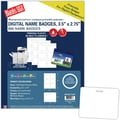 Blanks/USA® 3 1/2in. x 2 3/4in. Digital Name Badge, White, 100/Pack
