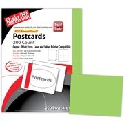 "Blanks/USA® 5 1/2"" x 4 1/4"" 65 lbs. Timberline Digital Postcard, Green Apple, 50/Pack"