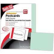 """Blanks/USA® 5 1/2"""" x 4 1/4"""" 90 lbs. Index Digital Postcard, Green, 50/Pack"""
