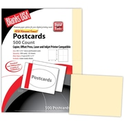 "Blanks/USA® 5 1/2"" x 4 1/4"" 67 lbs. Bristol Digital Postcard, Ivory, 125/Pack"