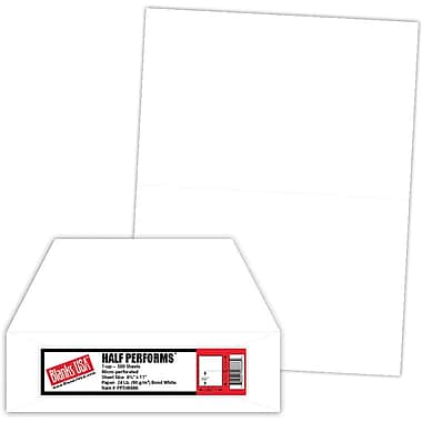 Blanks/USA® 8 1/2in. x 11in. 24 lbs. Perforated 5 1/2in. Business Form, White, 500/Pack