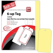 Blanks/USA® 2.84 x 5 1/4 Digital Printable Tag, Yellow, 167/Pack