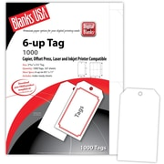 "Blanks/USA® 2.84"" x 5 1/4"" Digital Printable Tags, 167/Pack"