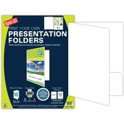 "Blanks/USA® 8 1/2"" x 11"" 9 Pt. Printable Folder, C2S White, 10/Pack"