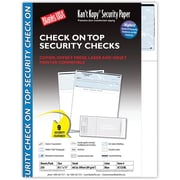 "Kan't Kopy® Blank/USA® 8 1/2"" x 11"" 60 lbs. Security Check on Top Paper, Void Blue, 250/Pack"