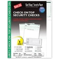 Kan't Kopy® Blank/USA® 8 1/2in. x 11in. 60 lbs. Security Check on Top Paper, Void Green, 250/Pack