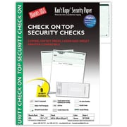 "Kan't Kopy® Blank/USA® 8 1/2"" x 11"" 60 lbs. Security Check on Top Paper, Void Green, 250/Pack"