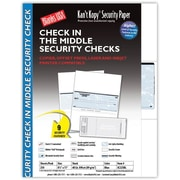 "Kan't Kopy® Blank/USA® 8 1/2"" x 11"" 24 lbs. Security Check on Middle Papers, 250/Pack"