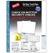 "Kan't Kopy® Blank/USA® 8 1/2"" x 11"" 60 lbs. Security Check on Bottom Paper, Void Blue, 250/Pack"