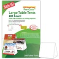 Blanks/USA® 6in. x 3 3/8in. x 5 5/8in. 80 lbs. Digital Table Tent, White, 200/Pack