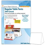 "Blanks/USA® 4"" x 3 3/8"" x 5 5/8"" 80 lbs. Digital Table Tent, White, 150/Pack"