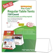 "Blanks/USA® 4"" x 3 3/8"" x 5 5/8"" 80 lbs. Digital Table Tent, White, 750/Pack"