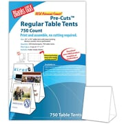 "Blanks/USA® 3.67"" x 3 1/8"" x 5 3/8"" 80 lbs. Digital Table Tent, White, 750/Pack"