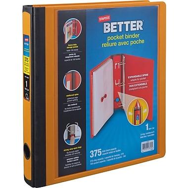 Staples® – Reliure Better Pocket, 1 po, orange