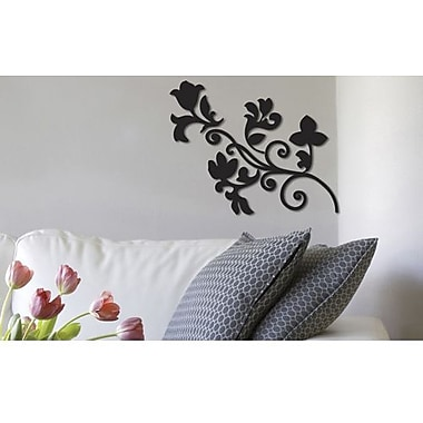 Crearreda 3D Arabesque Peel and Stick Foam Wall Decal, Black