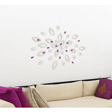 Crearreda 3D Leaves Peel and Stick Foam Wall Decal