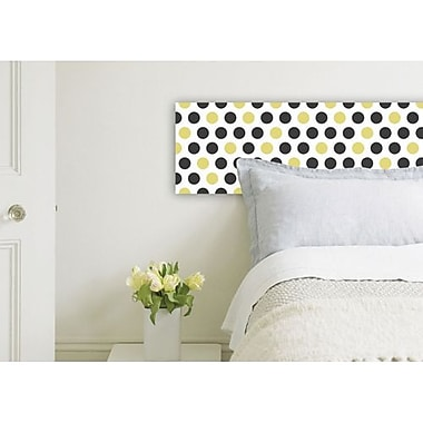 Crearreda Dots Peel and Stick Foam Tiles, Spotted White/Black/Yellow