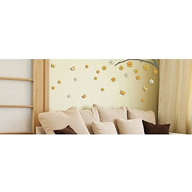 Crearreda 3D Blossom Branch Peel and Stick Foam Wall Decal