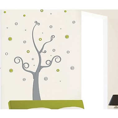 Crearreda 3D Swirly Tree Peel and Stick Foam Wall Decal
