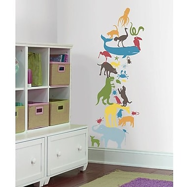 RoomMates Animal Tower Peel and Stick Giant Wall Decal