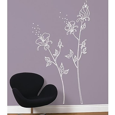 RoomMates Mia & Co Pollen Giant Peel and Stick Transfer Wall Decal, White