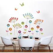 RoomMates Mia & Co Pompoms Giant Peel and Stick Transfer Wall Decal
