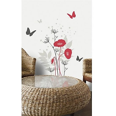 RoomMates Mia & Co Avignon Peel and Stick Transfer Wall Decal, Red/Gray