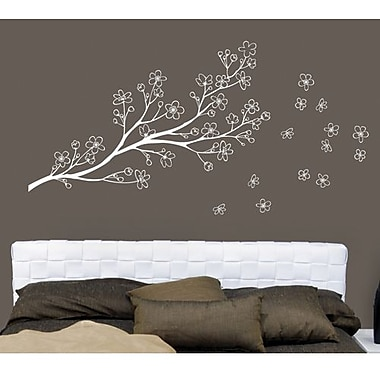 RoomMates Mia & Co Ryukyu Peel and Stick Transfer Wall Decal, White