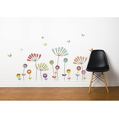 RoomMates Mia & Co Chrysanthemums Peel and Stick Transfer Wall Decal
