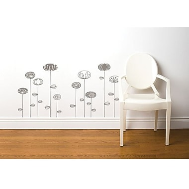 RoomMates Mia & Co Uppsala Peel and Stick Transfer Wall Decal, Gray